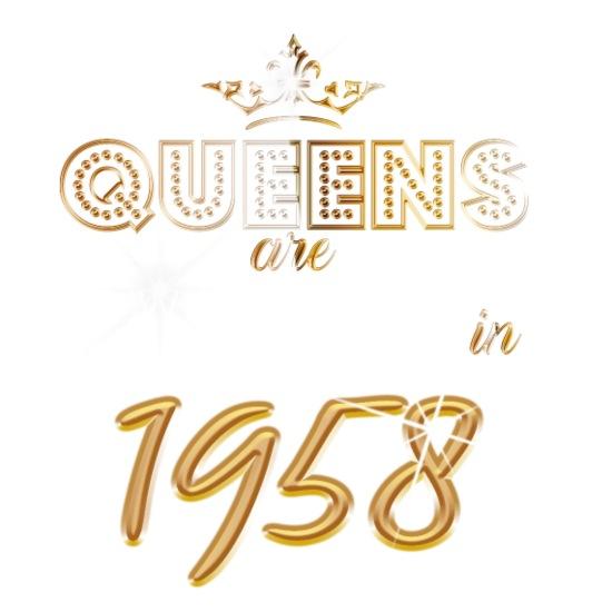 1958 Konigin 60 Jahre 60 Geburtstag Geschenk Schurze Spreadshirt