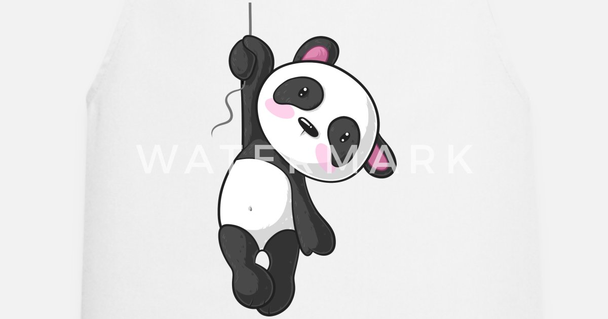 Panda De Dessin Animé Suspendu Tablier Spreadshirt