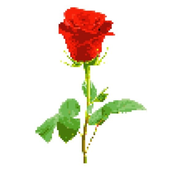 Red Rose Pixel Art Apron Spreadshirt