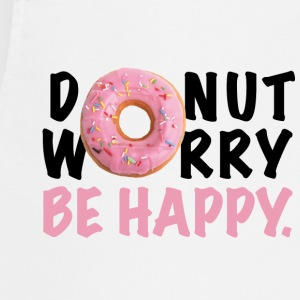 DONUT Worry Be HAPPY - Keukenschort