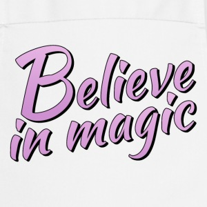 Believe in magic logo in lilac - Cooking Apron