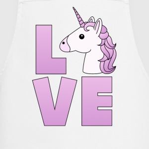 Love Logo Unicorn Unicorn in lilac - Cooking Apron