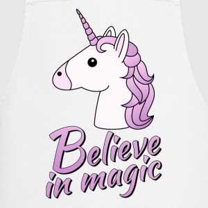 Unicorn head with text Believe in magic in lilac - Cooking Apron