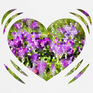 Heart Green Purple Mosaic - Cooking Apron