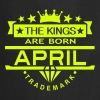 april kings born birth month crown logo - Cooking Apron