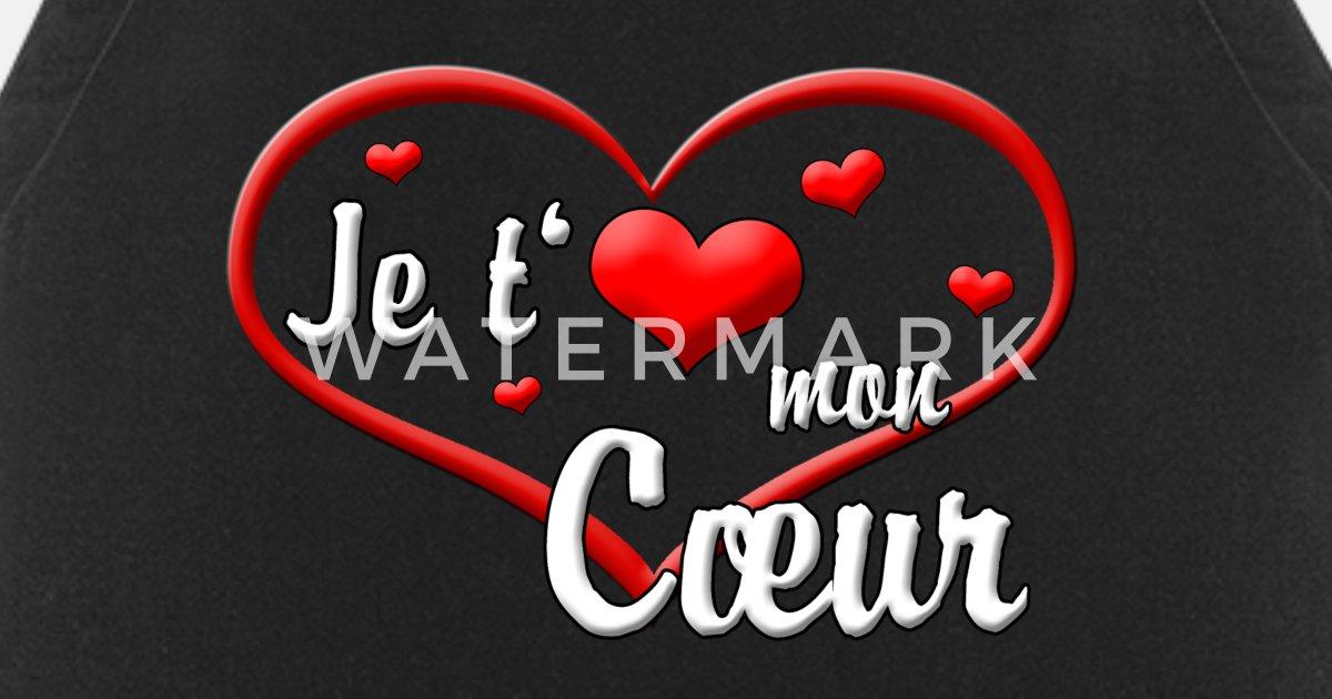 Ich Liebe Dich Mein Herz Schatzi Franzosisch Schurze Spreadshirt