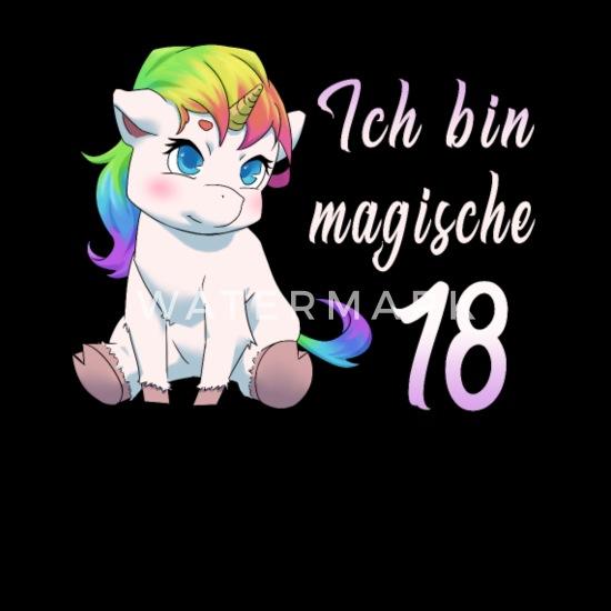 18 Jahre Einhorn 18 Geburtstag Freundin Geschenk Schürze