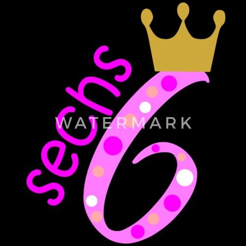 6 Geburtstag Pink Für Mädchen Zahl 6 Schürze Spreadshirt