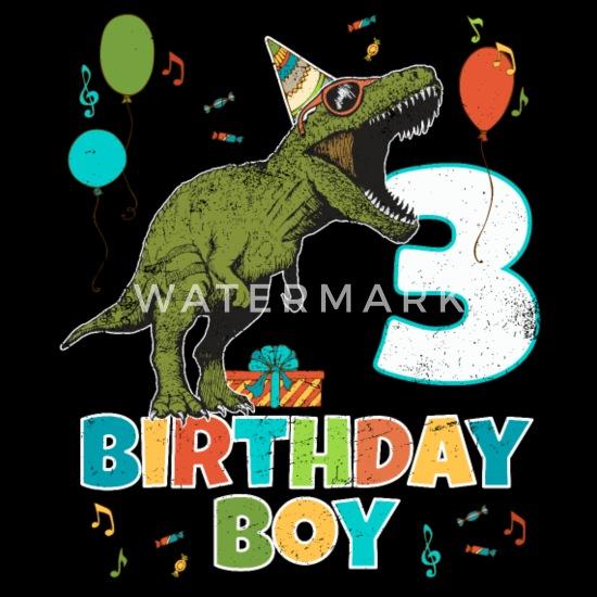 Verjaardag 3 Jarige.3 Jarige Kinderen Verjaardag Jongen Partij T Rex Dinosaurus