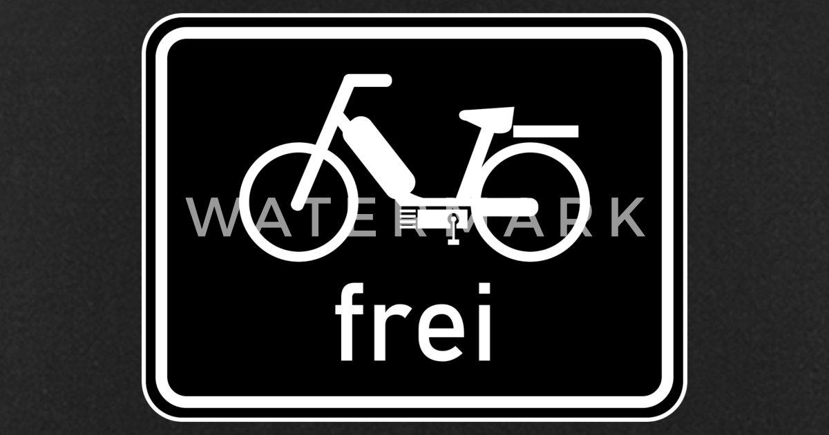 Piste Cyclable Panneau Cyclomoteur Gratuit 25 Km H 50cc Tablier Spreadshirt