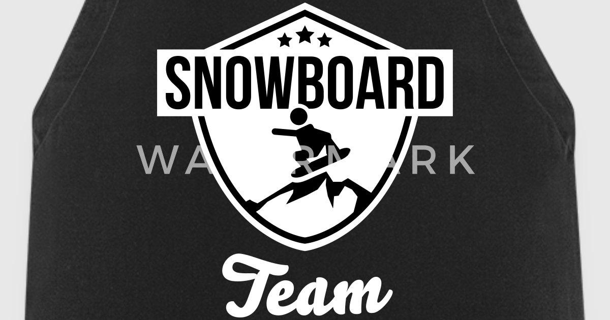 snowboard team badge von lovetee spreadshirt. Black Bedroom Furniture Sets. Home Design Ideas