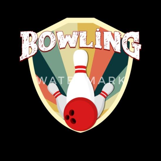 Bowling Vintage Retro Used Look Bowlingkugel Idee Schürze