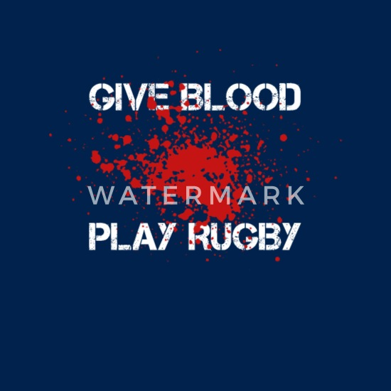 7f645c40 Give Blood Play Rugby - Apron. Front. Design