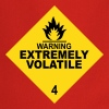 warning extremely volatile square II 2c - Cooking Apron