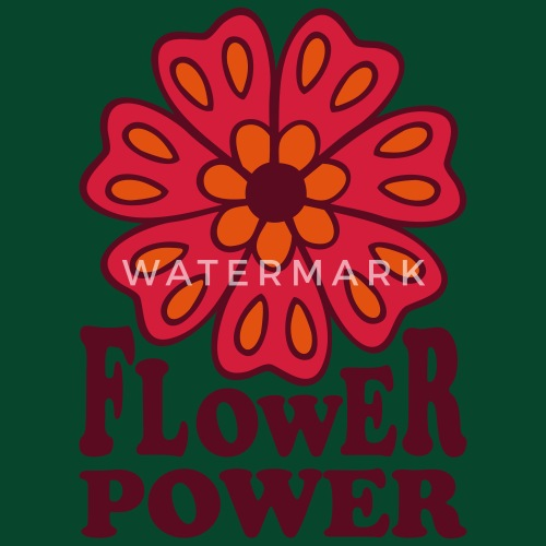 Flower Power Fleurir Woodstock Fleur Hippie 70 S Tablier Spreadshirt
