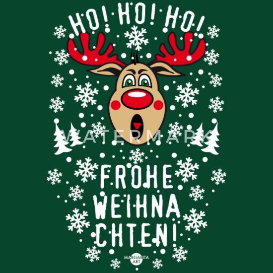 Ho Ho Ho Frohe Weihnachten.193 Hirsch Rudolph Ho Ho Ho Frohe Weihnachten Gag Schurze