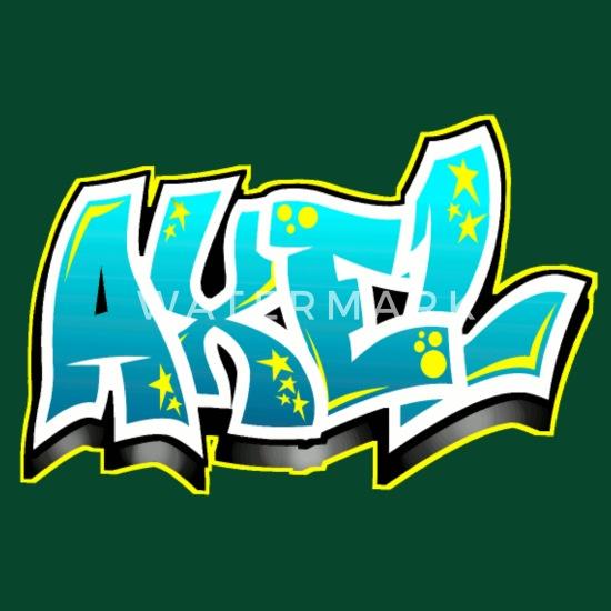 Graffiti tag pr nom axel tablier spreadshirt - Graffiti prenom gratuit ...