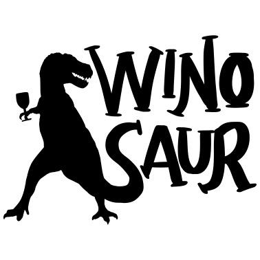Wino Saur T-Shirt-Divertente scherzo donna e unisex VINO DRINK winosaur T-REX