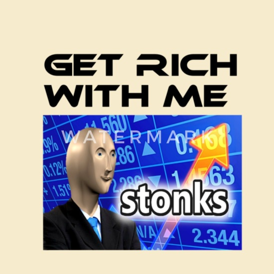 Get rich with me, Stonks meme' The Wee Pouch | Spreadshirt
