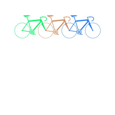 Muskelkraft Fahrradfahrer ohne E bike Spruch Sticker