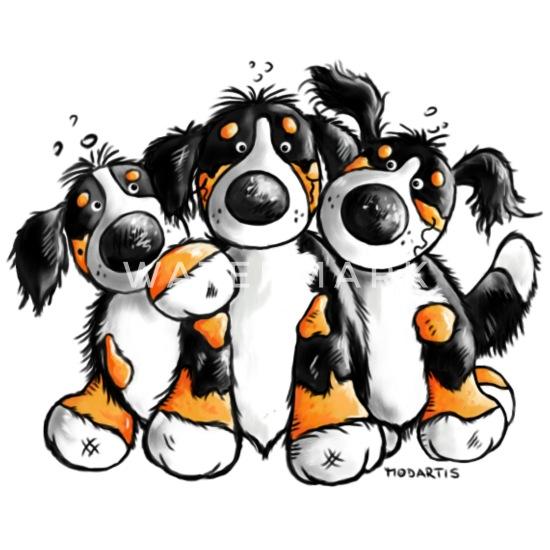 Cute Bernese Mountain Dogs - Cartoon Baseball Cap | Spreadshirt