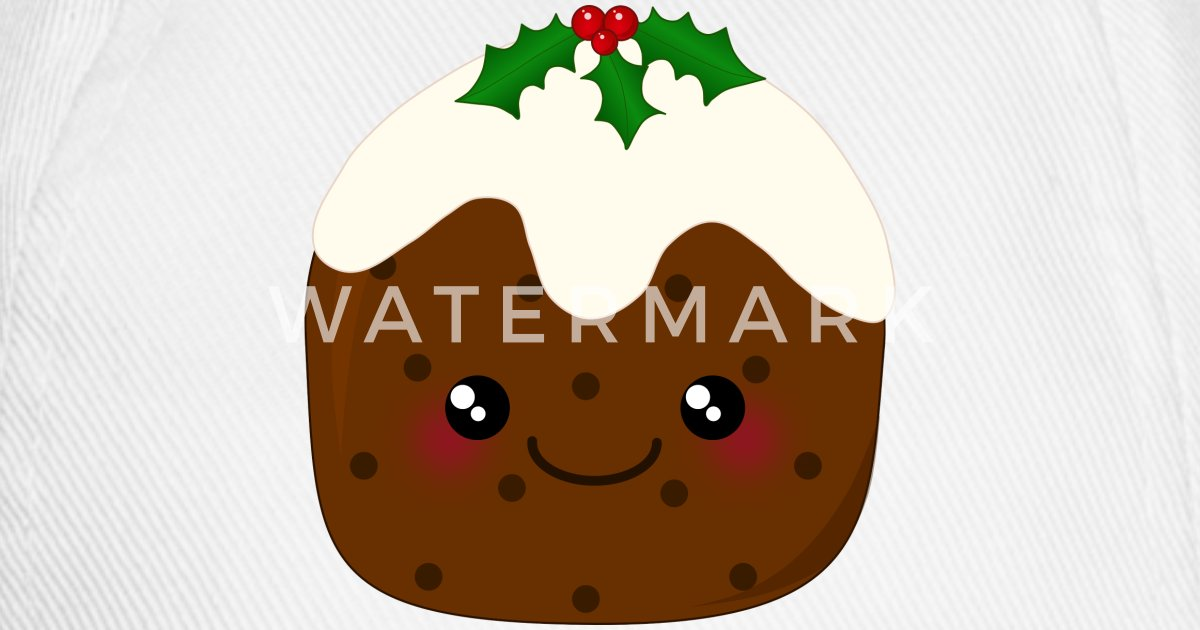 Cute Kawaii Christmas Pudding by ArtformDesigns | Spreadshirt
