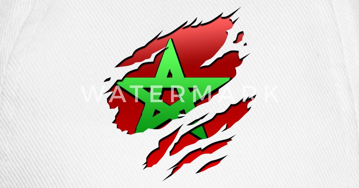 Maroc morocco drapeau de tshirt maker spreadshirt - Drapeau du maroc a imprimer ...