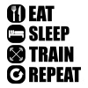 eat_sleep_train_repeat_7_1f - Sweat-shirt à capuche Premium pour hommes