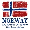 Norway Flag - Vintage Look  - Men's Premium Hoodie