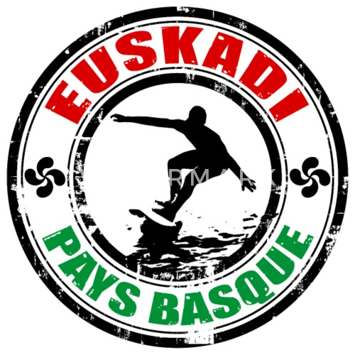 basque surfing - Sudadera con capucha premium hombre. detrás. delante.  Diseño b0d710a3f8d