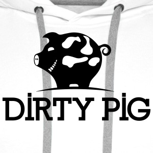 PIG DIRTY - Sweat-shirt à capuche Premium pour hommes