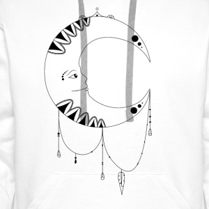 Zentangle Moon - Männer Premium Hoodie