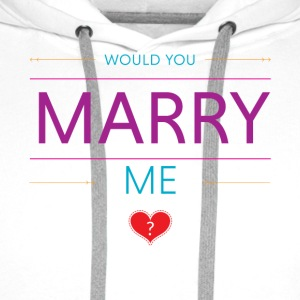 Would you marry me? <3 - Men's Premium Hoodie