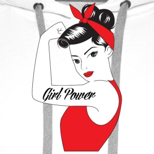 Pin-Up Girl / Rockabilly / 50: Girl Power - Sudadera con capucha premium para hombre