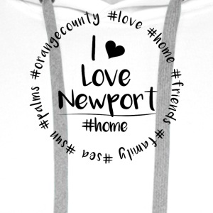 I love Newport - Orange County - Männer Premium Hoodie