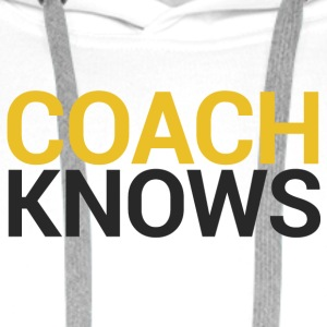 Coach / bil: Buss Knows - Premium hettegenser for menn