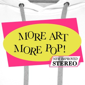 More Pop Art More - Men's Premium Hoodie
