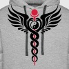Caduceus, Yin Yang, Winged Serpent, Hermetic - Men's Premium Hoodie