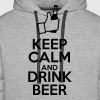 Keep calm and drink beer - Men's Premium Hoodie