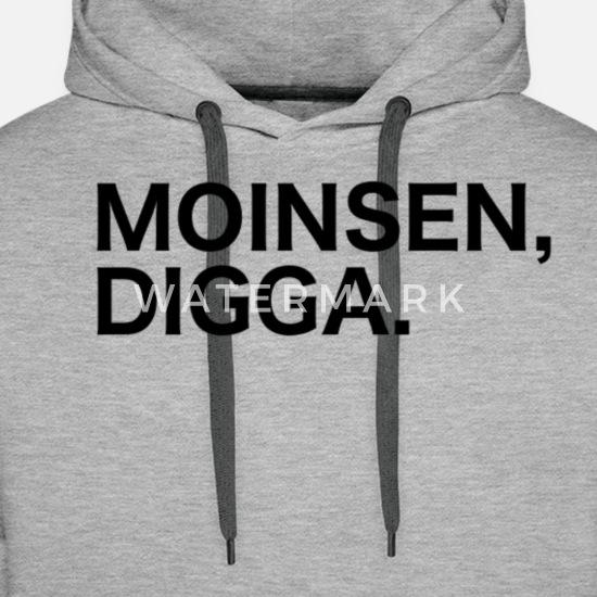 Comedy Shirts K/ängurutasche Kapuze Langarm Print-Pulli M/ädchen Hoodie Moinsen Digga