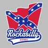 Rockabilly Rebel Flag - Premium hettegenser for menn
