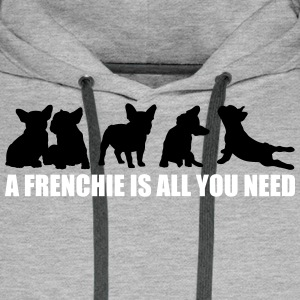 A Frenchie is all you need - free color selection - Men's Premium Hoodie