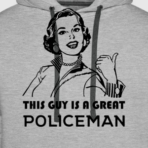 Policeman. Motivational. - Men's Premium Hoodie