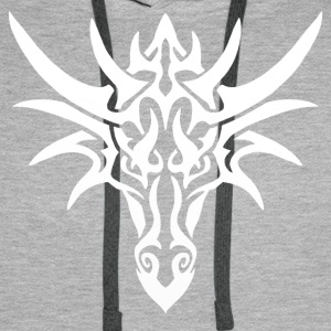 Tribal White Dragon - Men's Premium Hoodie