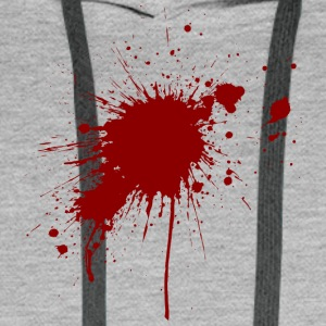 Blood Spatter From A Bullet Wound - Men's Premium Hoodie