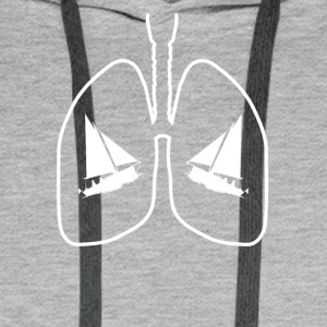 lungs lunge sail selgeln sailing sailboat boat - Männer Premium Hoodie