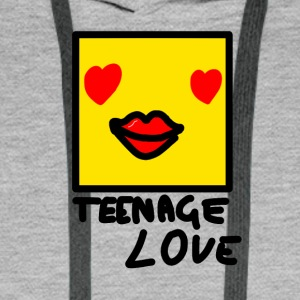 Self Picture Girl: Teenage Love - Sweat-shirt à capuche Premium pour hommes