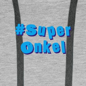 super-oncle - Sweat-shirt à capuche Premium pour hommes
