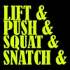 Lift Push Squat and Snatch - Felpa con cappuccio premium da uomo