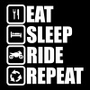 eat sleep ride repeat,moto,motard - Sweat-shirt à capuche Premium pour hommes